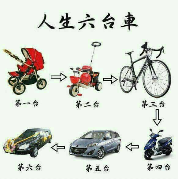 人生六台車